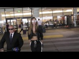 Josephine Skriver talks about how TMZ was rude to her mom while Arriving at LA airport