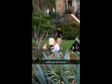 February 10: Fan taken video of Justin and Selena Gomez in Laguna Beach, California.