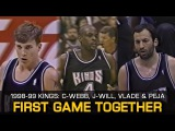 1998-99 Sacramento Kings Chris Webber, Jason Williams, Vlade &amp Peja (First Game Together)