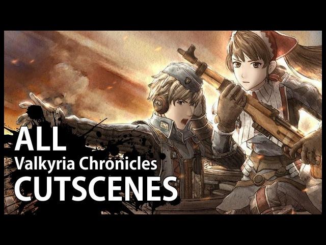 Valkyria Chronicles - All Cutscenes (Video Game Movie - 1080p HD)