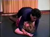 Strong black housemaid humiliates madame on floor