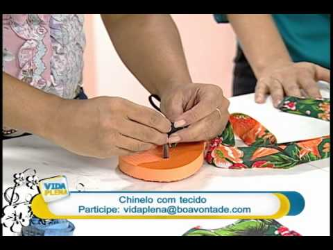 Artesanato - Customização de chinelo