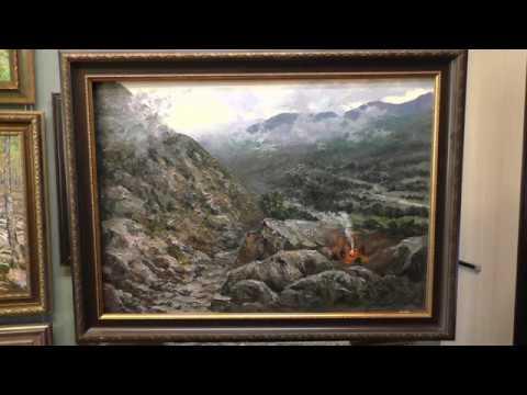 Картина Перевал, как научиться писать горный пейзаж.
