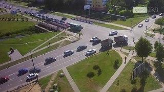 Типичное ДТП произошло в Кобрине, засмотрелся и поцеловал автомобиль