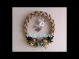 DIY,Easy Door Decoration,Braided Burlap Wreath-Kap