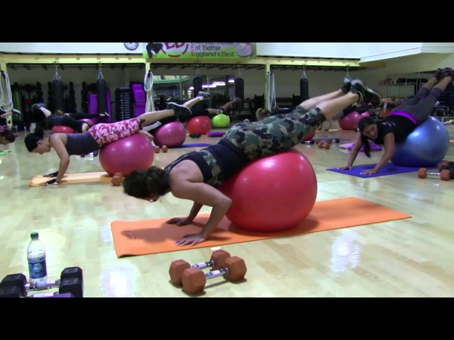 Cathe Friedrich's Stability Ball Total Body Weight Workout