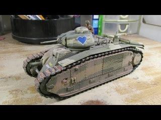 Building Tamiya B1 Bis Tank. From Start to Finish