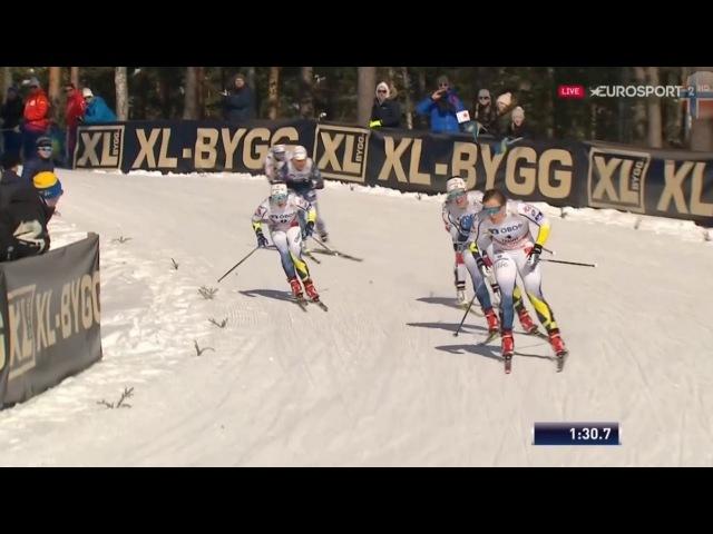 СПРИНТ женщины ФИНАЛ (конек) / Этап Кубка Мира по лыжным гонкам в Фалуне, Швеция 16.03.2018