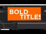 Make Your Titles Stand Out   After Effects Motion Graphics Tutorial