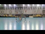 Черлидинг *Chiligirls * Группа поддержки* Minsk на матче ОФЛ ч.1