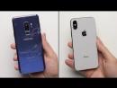 Galaxy S9 vs. iPhone X Drop Test