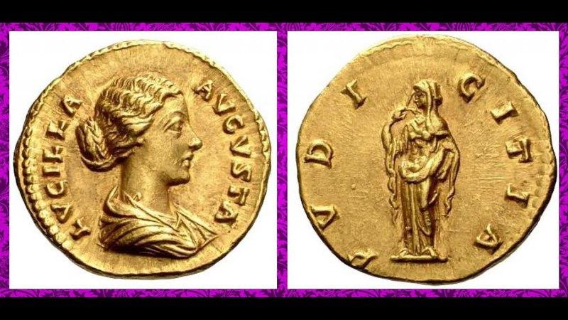Монета, Аурей, 166 г. —169 г., Луций Вер, Aurey, 166-169 AD