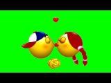 FREE GREEN SCREEN KISS ☯ CHROMA KEY ☯ ФУТАЖ ХРОМАКЕЙ ПОЦЕЛУЙ ☛ yda4aTV