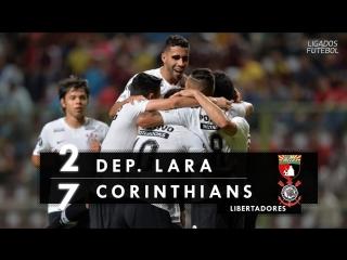 Deportivo Lara 2 x 7 Corinthians - Melhores Momentos (HD 60fps) Libertadores 17_