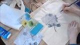Карандаши со стойким чернильным эффектом в микс медиа декоре по ткани видео урок Натальи Жуковой