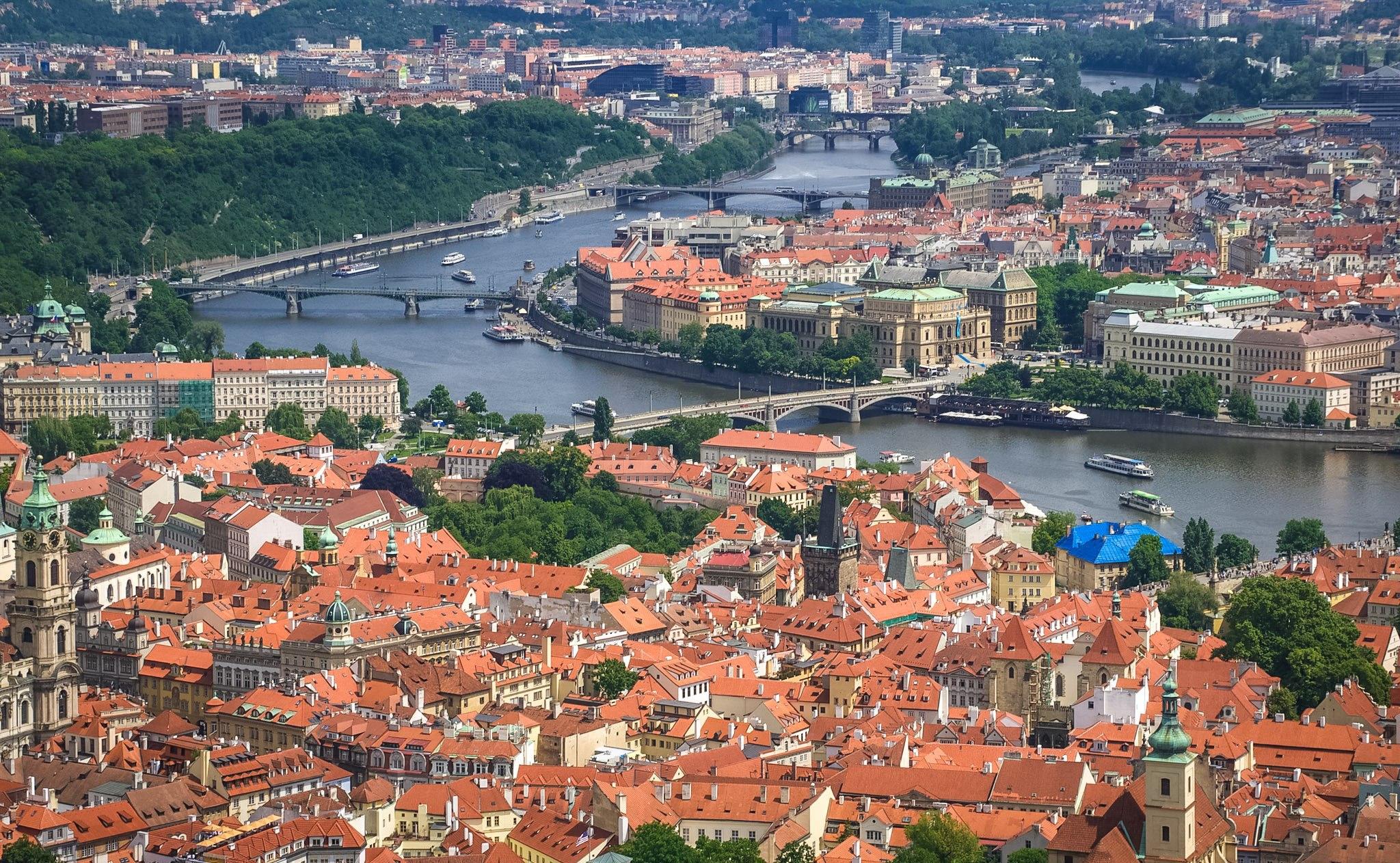 Панорамный вид на Прагу