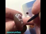 Мини мастер-класс по технологии  AEROPUFFING: дизайн