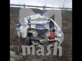 Фура протаранила автомобиль ДПС в Ростовской области