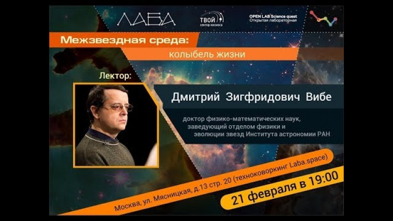 Дмитрий Вибе. Межзвездная среда: колыбель жизни