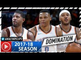 Russell Westbrook, Carmelo Anthony &amp Paul George BIG 3 Highlights vs Bulls (2017.11.15) - CRAZY!