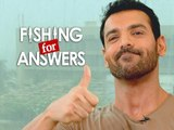 John Abraham plays Fishing for Answers