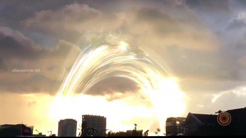 Невероятный феномен в небе над Иерусалимом, Израиль. Март 2018.