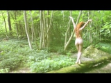 Beautiful Nude Model as a Naked Fairy in the Forest