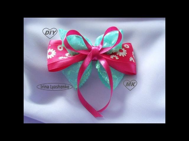 Бант из лент МК/DIY Ribbon bow/ PAP Laço de fitas Tutоrial 122