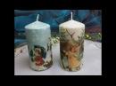 Candele decorate con trasferimento di immagine Tutorial Decorate candles with paper napkins