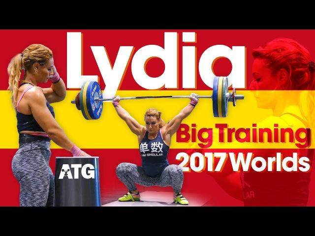 Lydia Valentin Heavy Training Session 115kg Snatch 142kg Clean Jerk 2017 World Championships