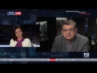 """Инна Богословская и Владимир Горбач в """"Вечернем прайме"""" телеканала """"112 Украина"""", 10..."""