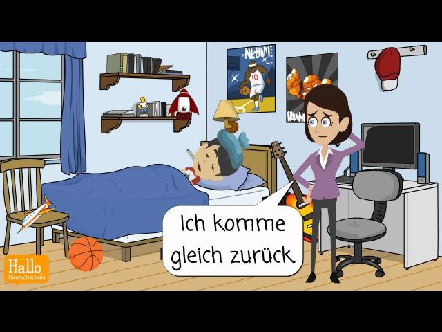 Deutsch lernen Michael ist krank Hast du Fieber