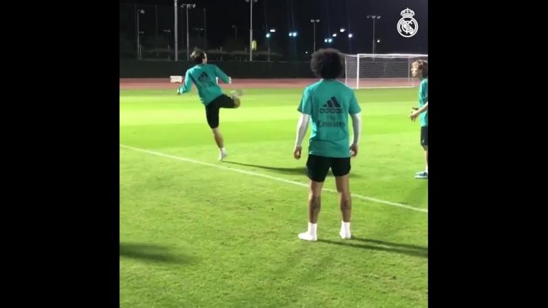 Мадридисты на тренировке