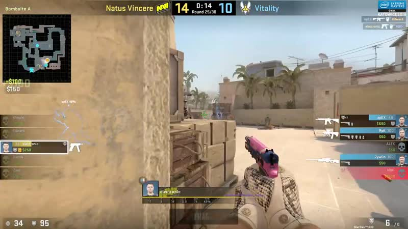 [CSRuHub] Na`Vi vs Vitality - IEM Season XIII - Katowice Major 2019 - map1 - de_mirage [MintGod SSW]