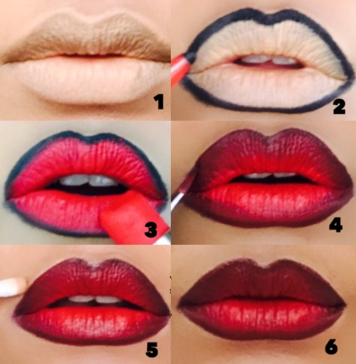 Как сделать омбре на губах., изображение №7
