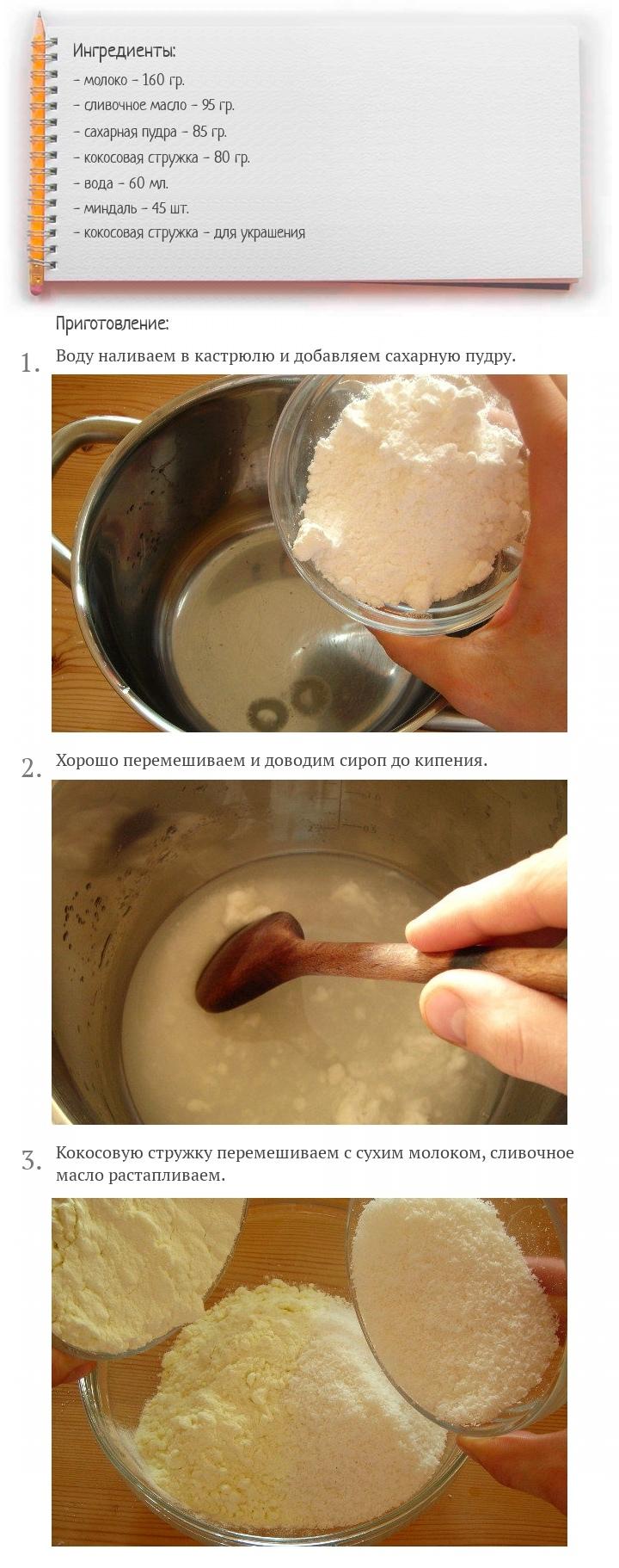 Домашние конфеты Рафаэлло, изображение №2