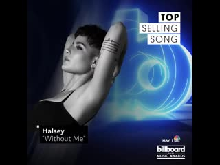 Bbmas top selling song @iamcardib, @sanbenito @jbalvin i like it @drake in my feelings @halsey without me @ladygag