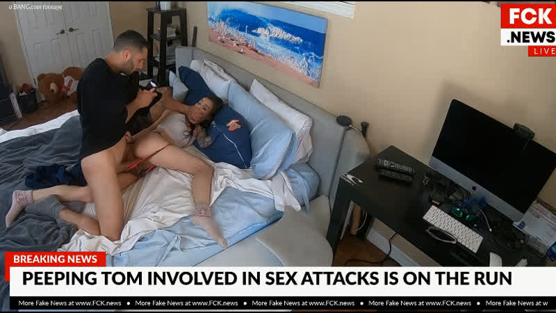 Bfakenews Marley Brinx Gets Fucked By A Peeping Tom Intruder ( Bang Fake News 1080p анальное