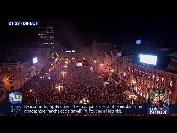 Plus de 300.000 Croates réunis à Zagreb pour fêter le retour de leur équipe