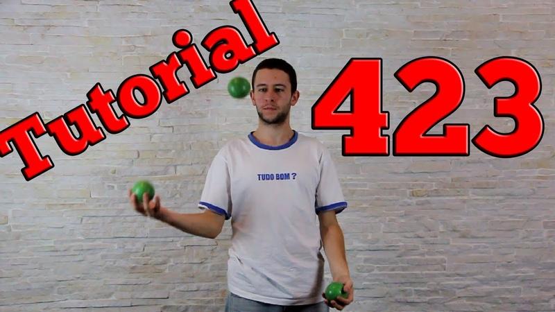 423 - tutorial 3 bolinhas - Aprenda malabarismo! (Juggling tutorial - 3 balls)