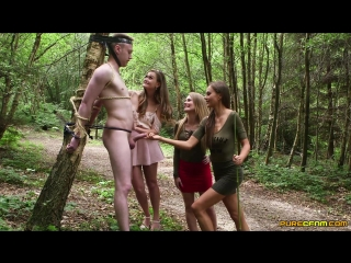 Carmel anderson, honour may and tina kay (stag tree prank)[2018, all sex, cfnm, public sex, group, hd 1080p]
