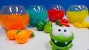Spielzeug Video für Kinder. OmNom kauft Obst und Gemüse.