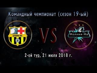 "Чемпионат (19-ый сезон), 2-ой тур: .: ""Цунами Mix"" ~ ""Молния Mk""."