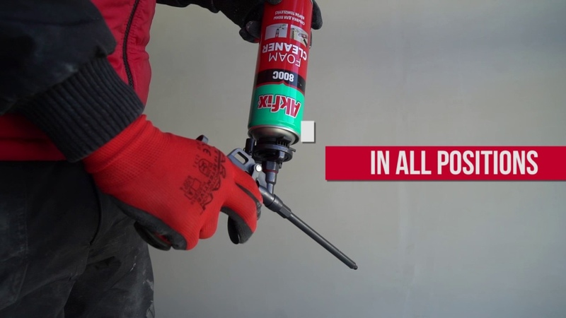 How To clean Pro Foam Gun - Akfix 800C Foam Cleaner