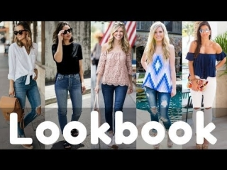 Latest summer jeans outfits style 2018 lookbook _ women fashion