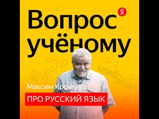 «вопрос учёному» максим кронгауз отвечает на неожиданные вопросы о русском языке