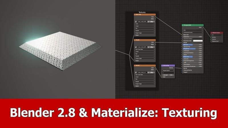 Blender 2.8 Materialize Tutorial for PBR Texturing