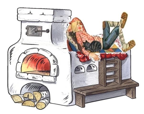 Картинка емеля на печи для детей
