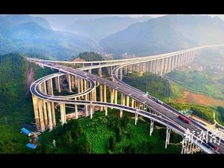 Это Китай! Самая высокая дорожная развязка в мире