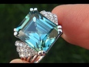 GIA Certified Natural FLAWLESS Blue Zircon Diamond 18k White Gold Ring GEM C351